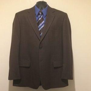 💎 PRONTO UOMO 44R Brown Windowpane Sport Jacket